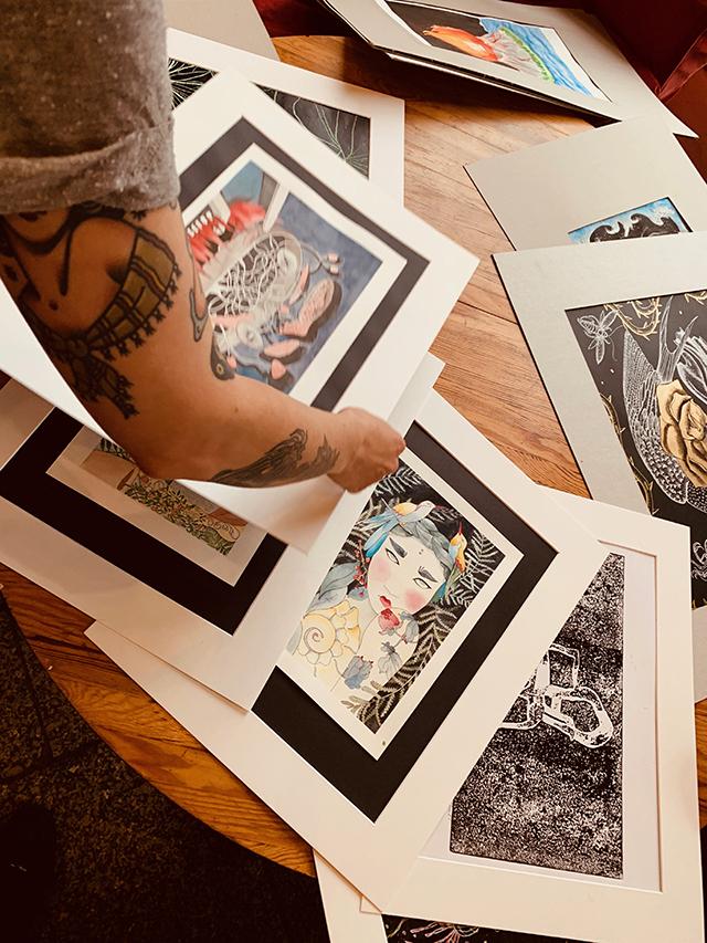 pracownia otwarta szkoła rysunku wernisaż pizzeria Ogień artystyczne nadodrze Wrocław noc muzeów noc nadodrza kurs rysunku i malarstwa ilustracji grafiki