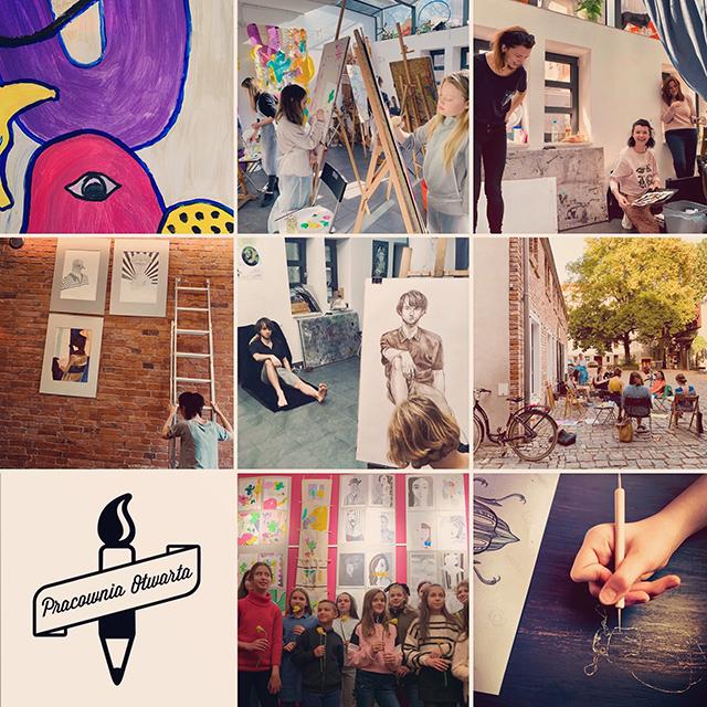 Pracownia Otwarta, szkoła rysunku, kurs rysunku, zajęcia plastyczne dla dzieci Wrocław wakacje, półkolonie artystyczne, malarstwo ilustracja grafika nadodrze artystyczne rydygiera 25b